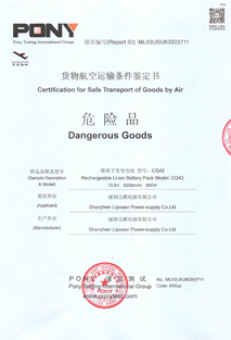 Cetification for Safe Transport of Goods by Air